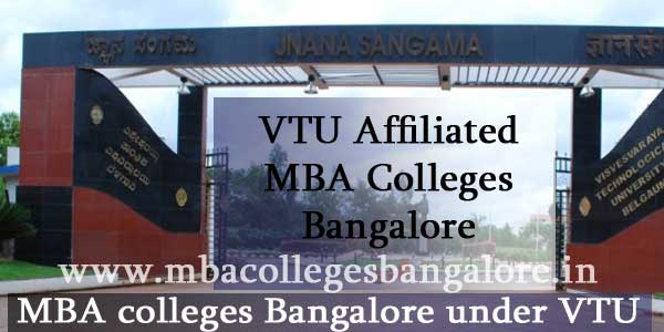 VTU Affiliated MBA Colleges Bangalore