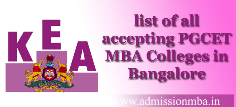 list of accepting PGCET MBA Colleges in Bangalore PGCET
