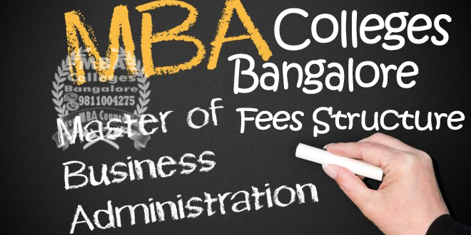 MBA Colleges Bangalore Fees Structure
